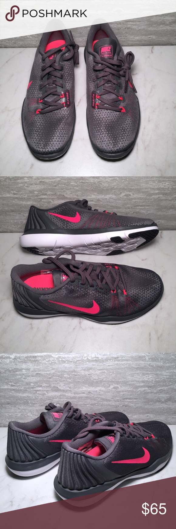 2f76c1eea905 Nike Flex Supreme TR5 Womens Training Shoe Sz 6.5. Dark Grey   Pink Punch.  New without box. Nike Shoes Athletic Shoes