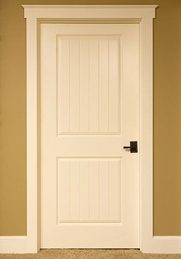 Interior Doors | White Molded Planked Door With Topper | Bayer Built  Woodworks
