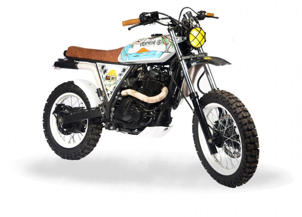 Suzuki Dr650 Scrambler By 85 Motorcycle Art Suzuki Dr650 Dr650 Scrambler