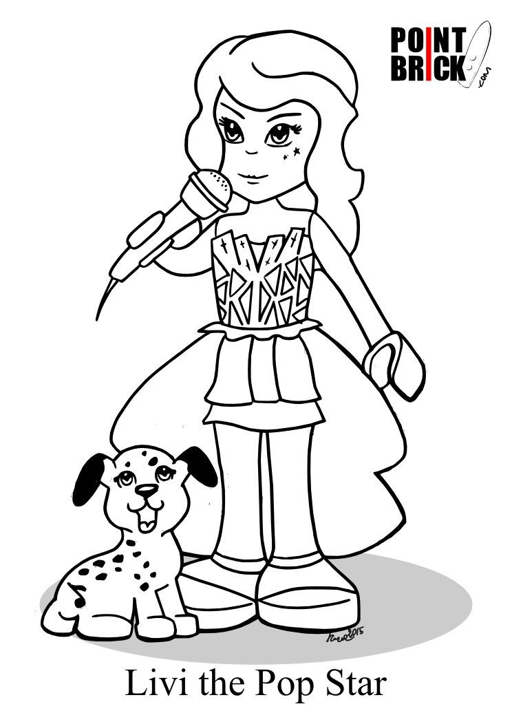 LEGO Friends Mia Coloring Pages  sonja  Pinterest  Coloring