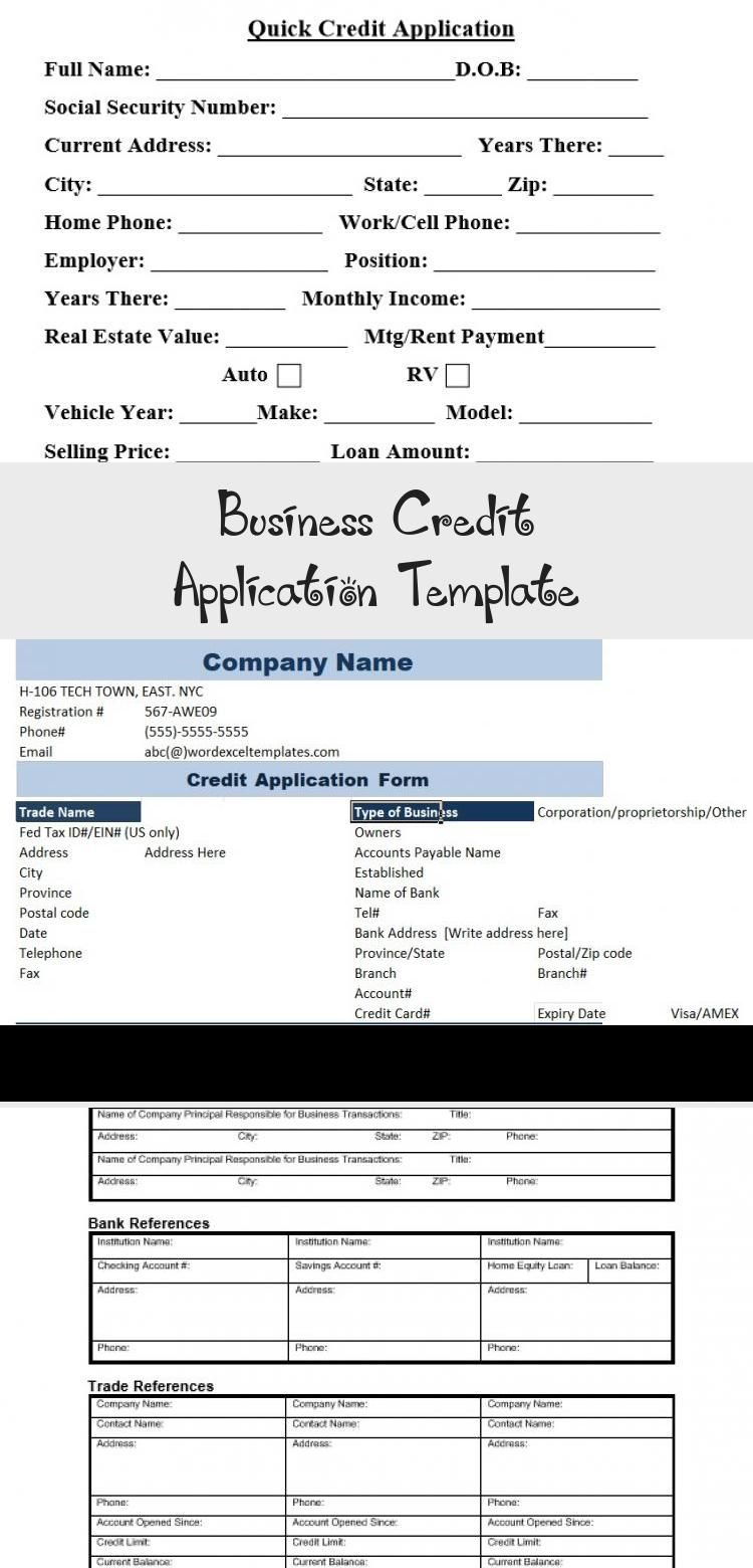 Business Credit Application Template Credit Score Credit Score Credits Application Business credit application form template