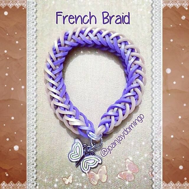 French Braid Bracelet with Butterfly metal charm