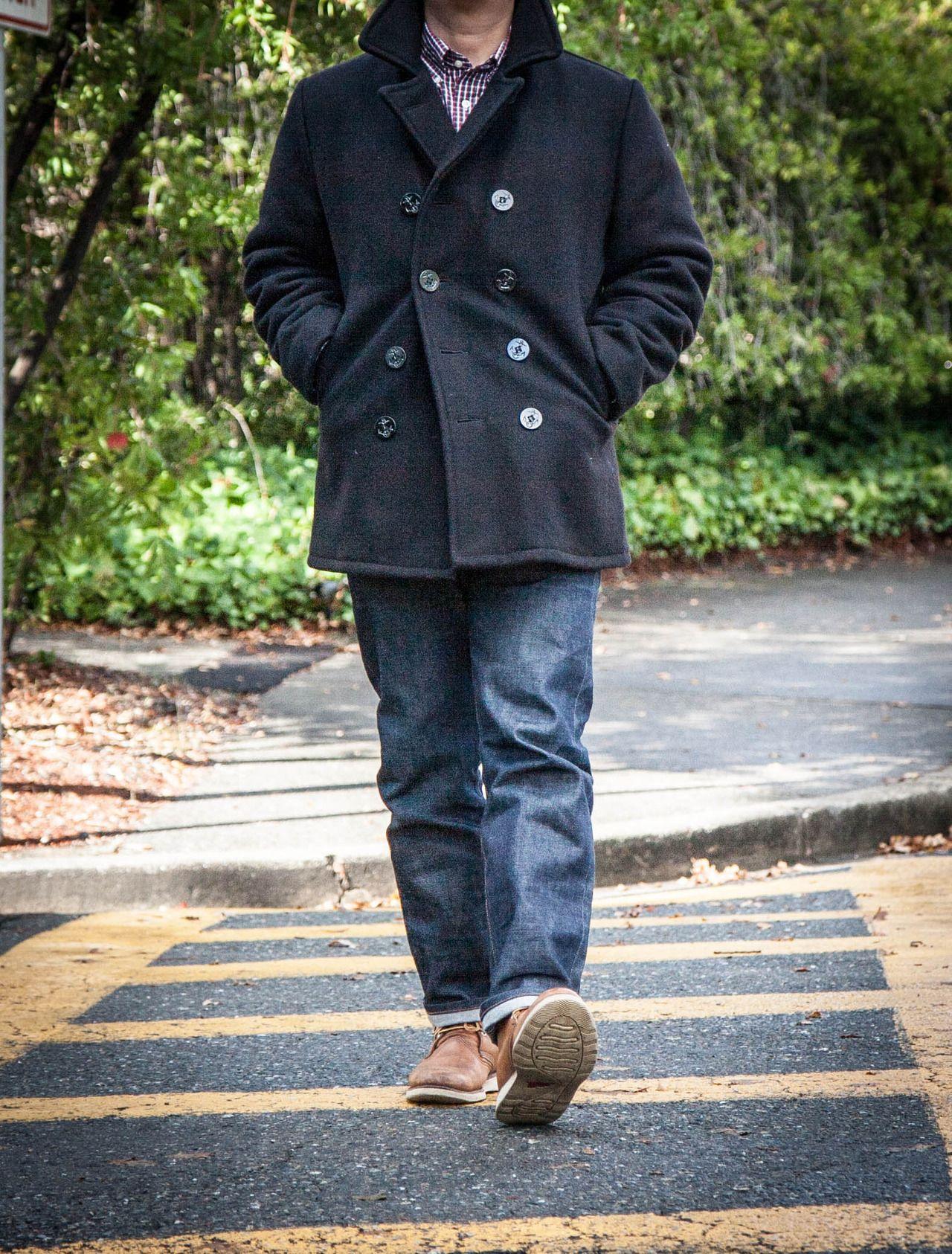 Schott pea coat | Grownup Style | Pinterest