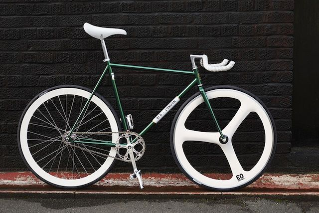 White Green 3 Spoke Cycles Things Pinterest Fixie And
