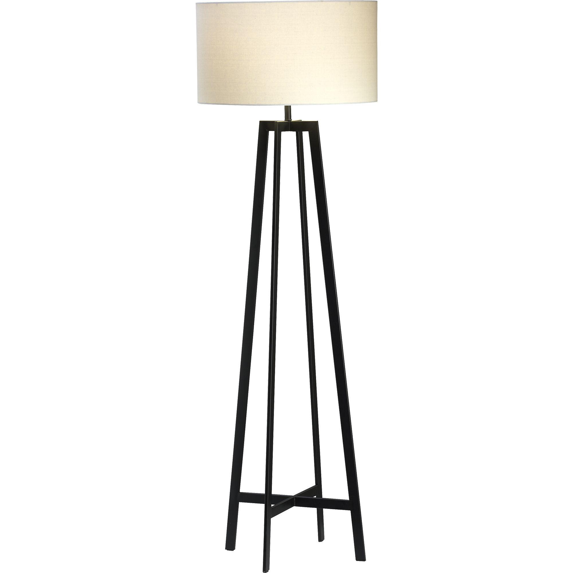 Castillo Black Floor Lamp Reviews Crate And Barrel In 2020