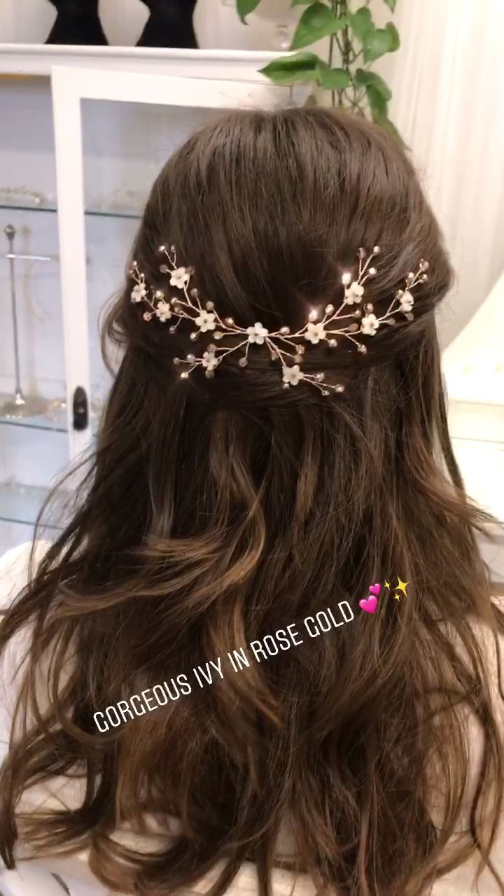 Rose gold flower hairvine
