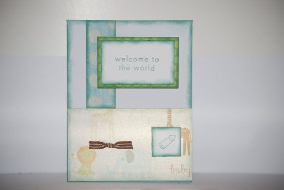 Welcome baby boy card on ETSY $2.95