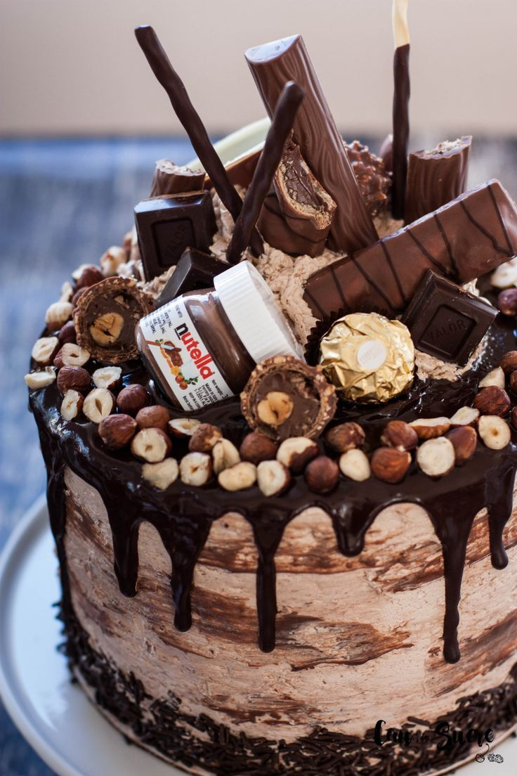 Superb Nutella Layer Cake Recipe Nutella Birthday Cake Easy Cake Funny Birthday Cards Online Alyptdamsfinfo
