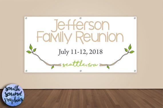 Family Reunion Banner Family Reunion Photo Backdrop