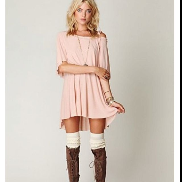 short dress tall boots