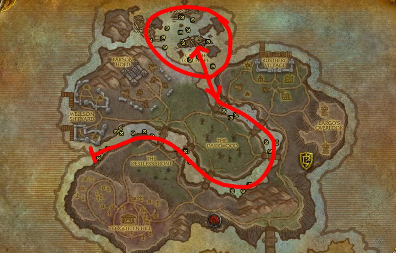 Azshara S Veil Farming Map Tol Barad Full Wow Gold Guide Https Youtu Be 4v68s9rtane Farming Guide Herbalism Map