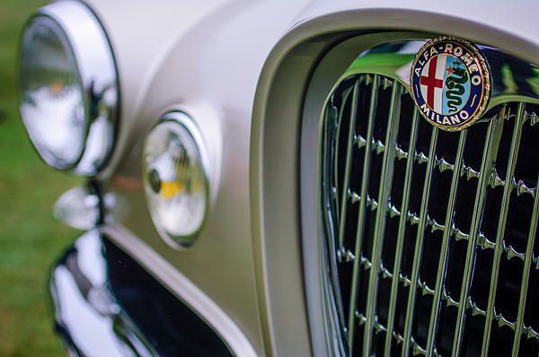 1955 Alfa Romeo 1900 CSS Ghia Aigle Cabriolet Grille Emblem - Jill Reger  - Prints for sale