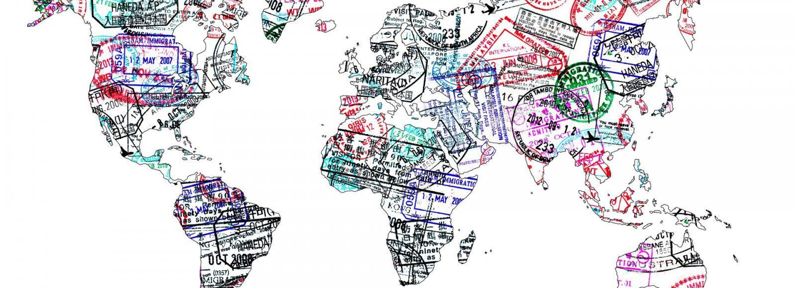 passport stamp map   I like it, I luv it   Passport stamps