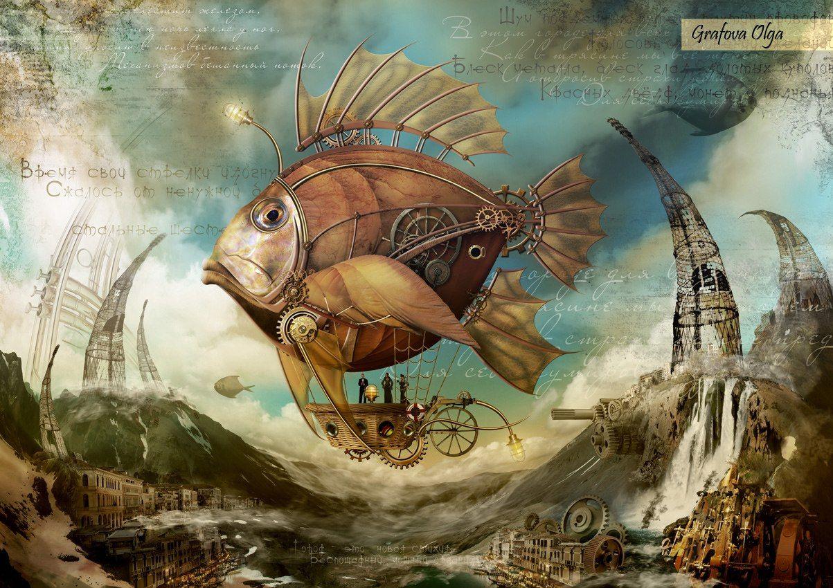 Steampunk Fish Art