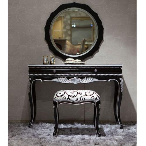 Bedroom Black Vanity Set | Antique Vanities | Country French - Bedroom Vanity Bedroom Black Vanity Set Antique Vanities