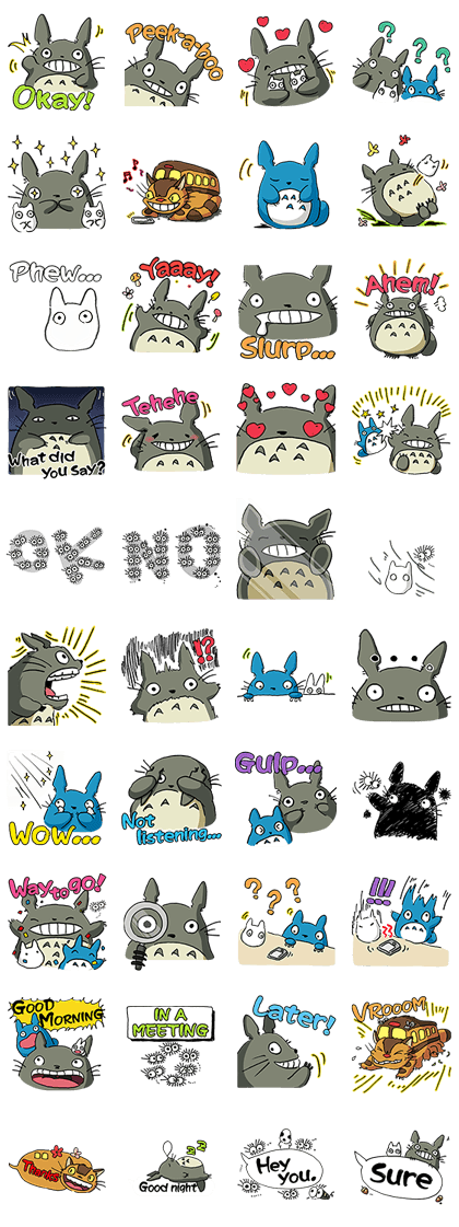 Totoro has come to line in a totally new way these expressively intriguing stickers feature original illustrations by none other than studio ghibli