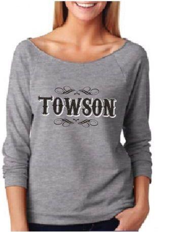 #Towson Terry Raw Edge 3/4 Slv Raglan Heather Grey Shirt $25.99 at 208 York Rd. Towson, MD 21204