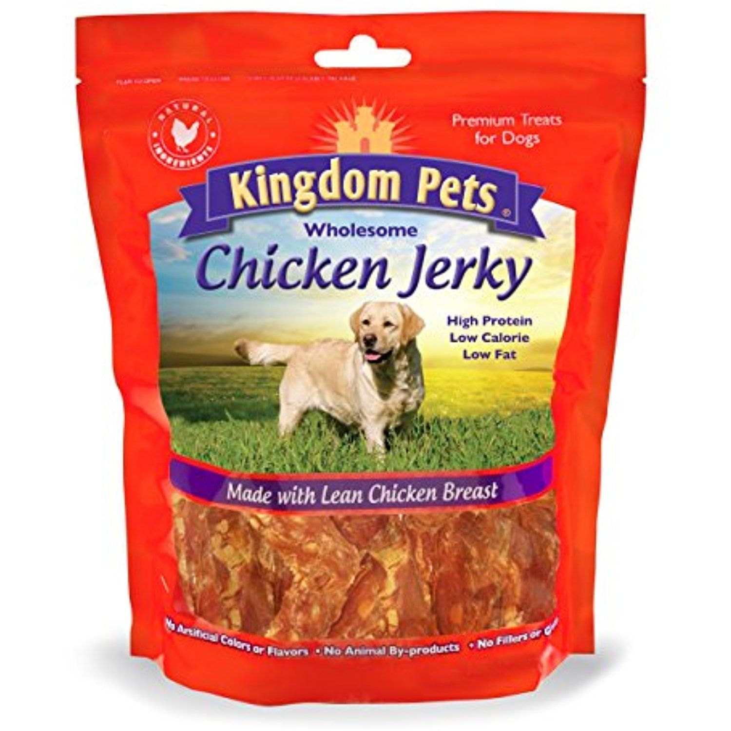 Kingdom Pets Premium Chicken Jerky Dog Treats 48 Oz For More