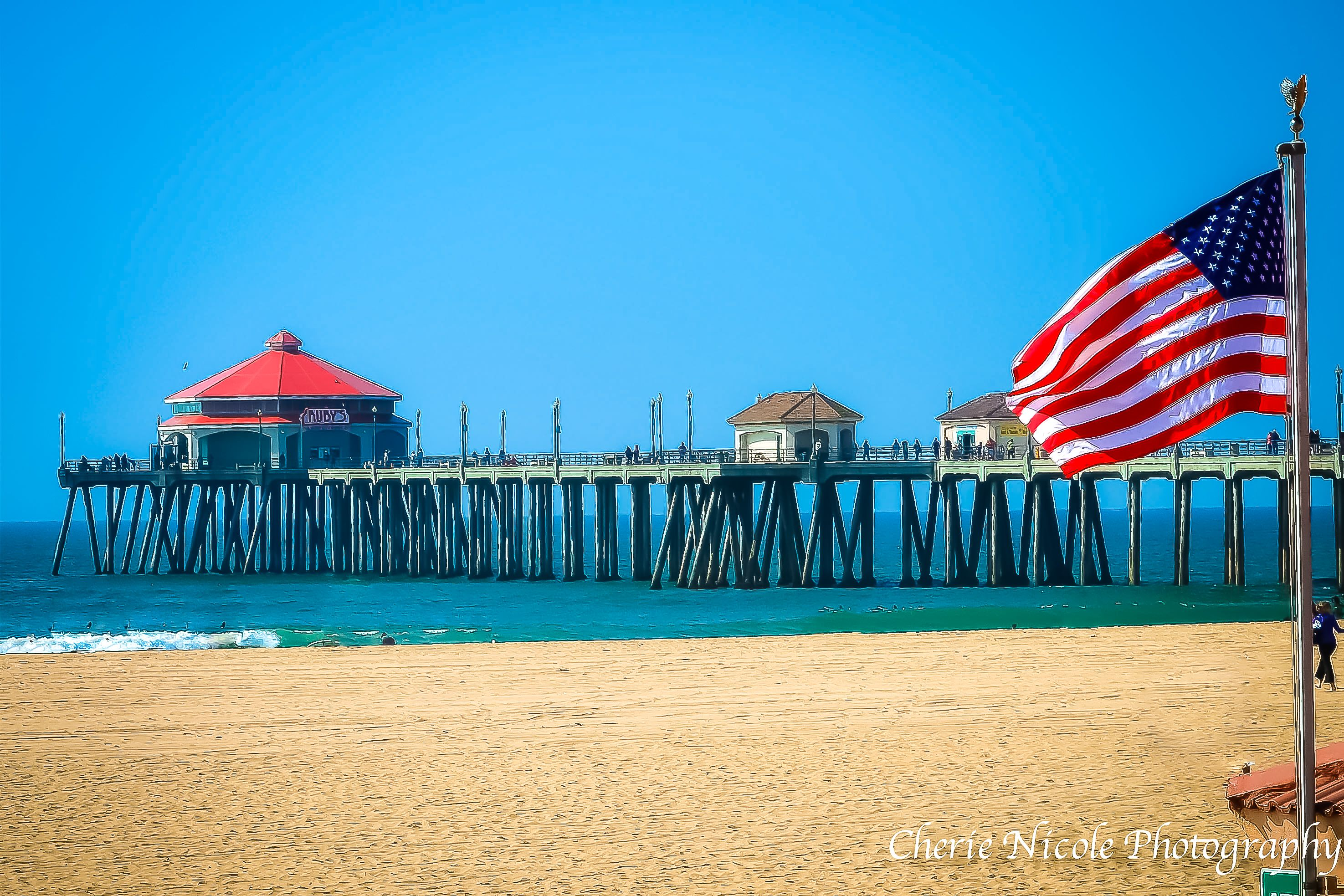 Huntington Beach Pier Fourth Of July 4th Of July America Huntington Beach Pier Huntington Beach Fourth Of July