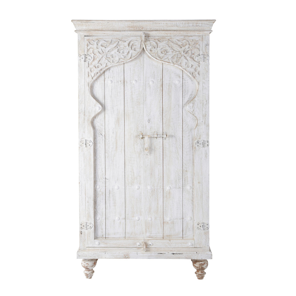 Schrank aus Mangoholz, B 102 cm, weiß | Pinterest | Schränkchen ...