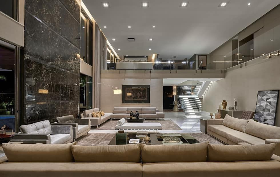 Modern Luxury Homes On Instagram L Couch Spacious Living Room