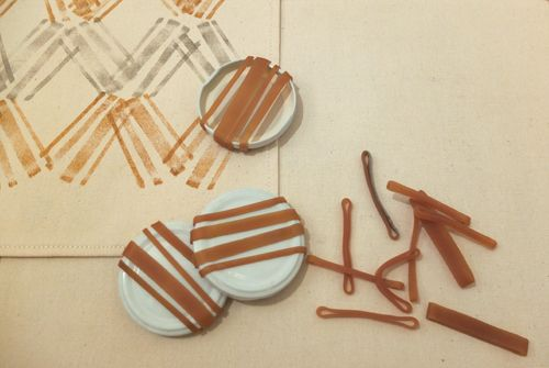 SuTurno: printing with rubber bands and lids