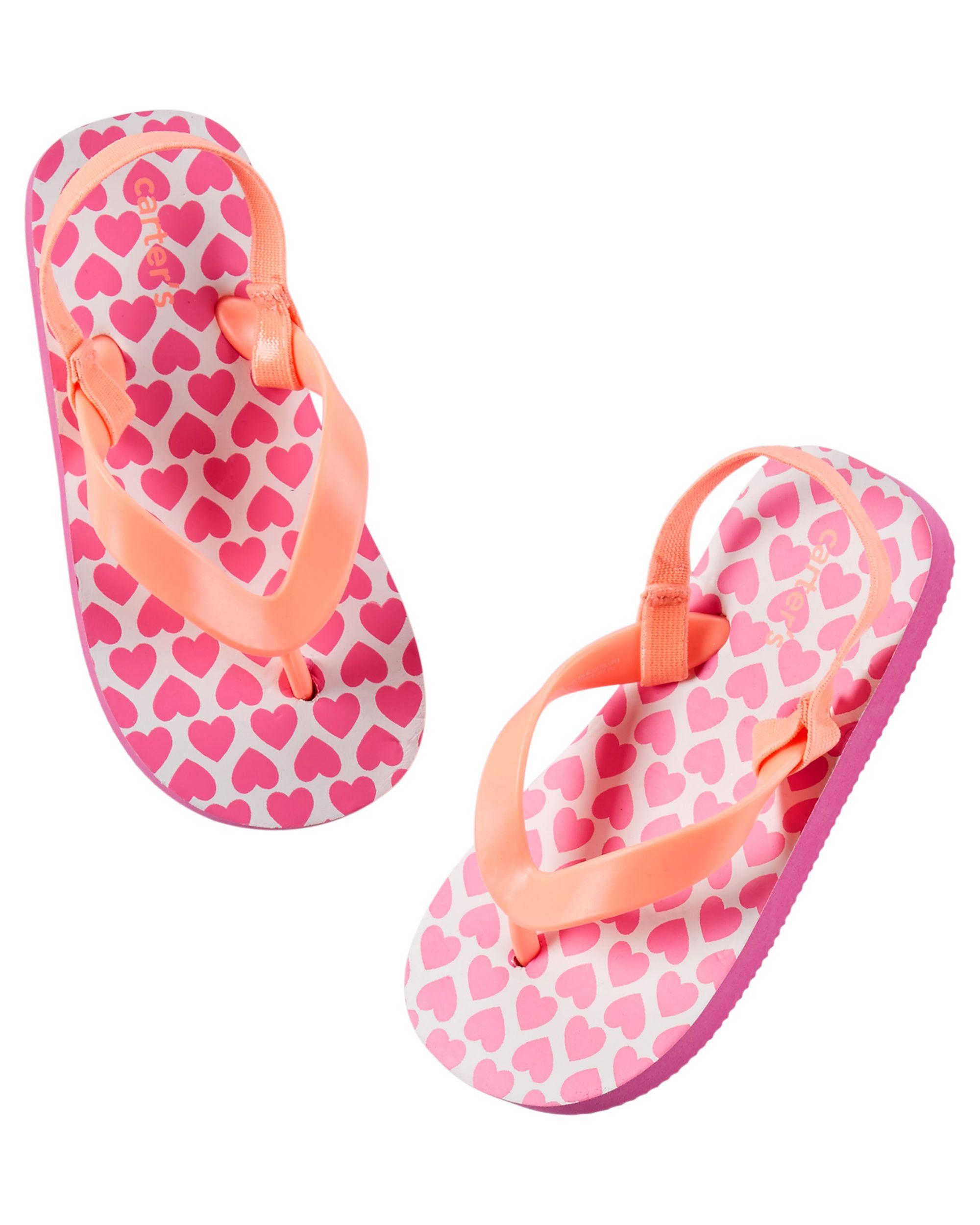605bb466b3be Baby Girl Carter s Heart Print Flip Flops