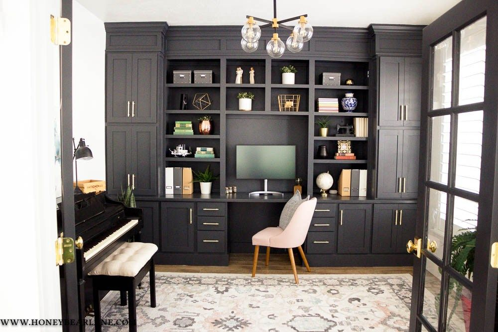 My Gorgeous Diy Office Built Ins Reveal Office Built Ins Home Office Cabinets Home Office Design