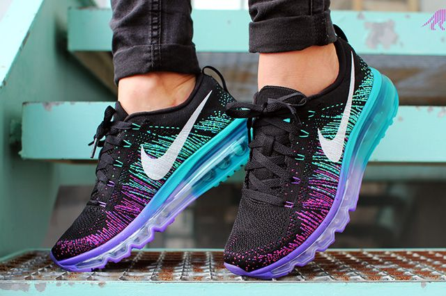 A little dream. #NIKE #FLYKNIT #MAX (PURPLE VENOM/TURBO GREEN) | Sneaker Freaker #sneakers #kicks