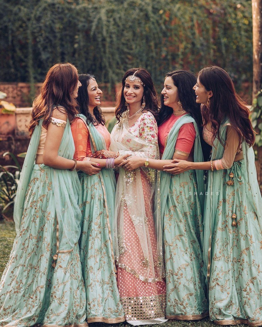 Indian Wedding Photography Ideas: 27+ Latest & Creative Bridesmaids Photo Ideas To Bookmark