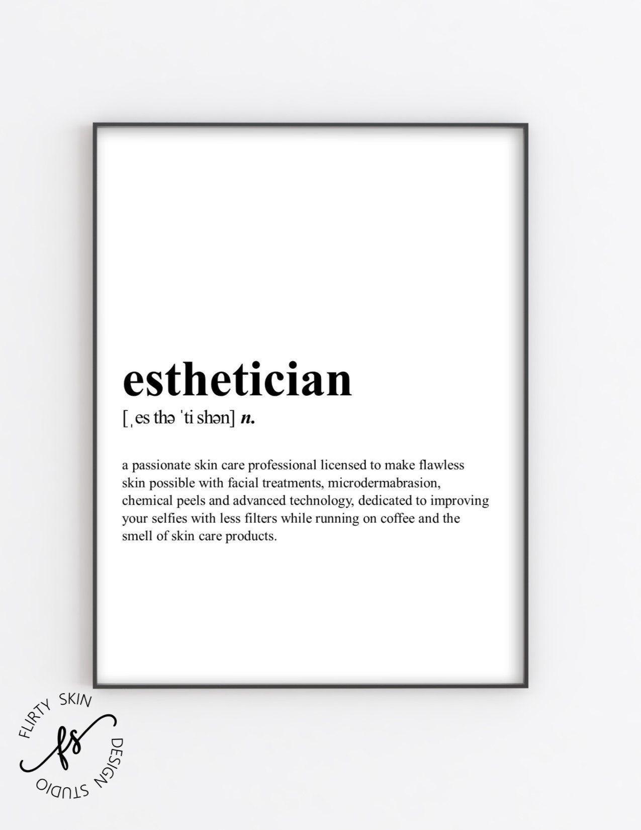 Esthetician Esthetician Decor Spa Quote Salon Quote Wall Quote Spa Salon Skin Care Quote Beauty Quote In 2020 Spa Quotes Salon Quotes Skincare Quotes