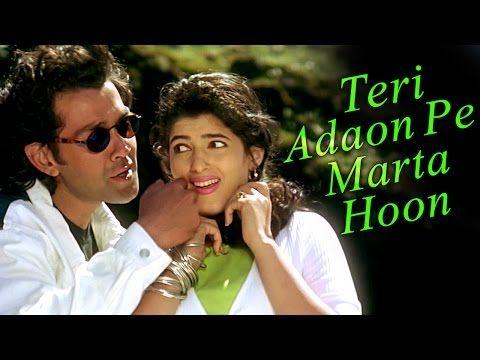 Teri Adaao Pe Marata Hun Barsaat Song 1995 Bobby Deol Twinkle Khanna Kumar Sanu Filmigaane Youtube Bobby Youtube Video