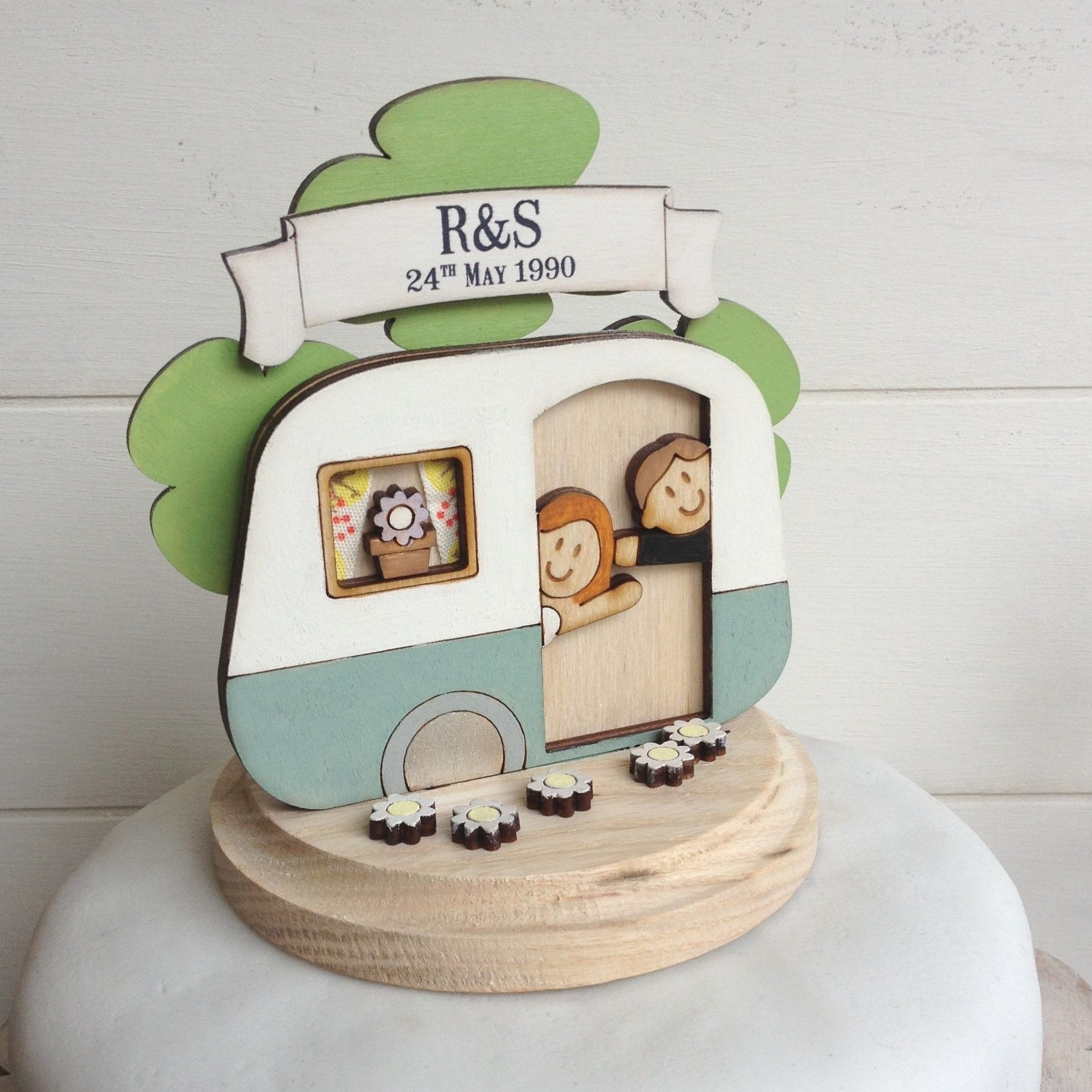 Vintage caravan wedding cake topper from www.justtoppers.co.uk ...