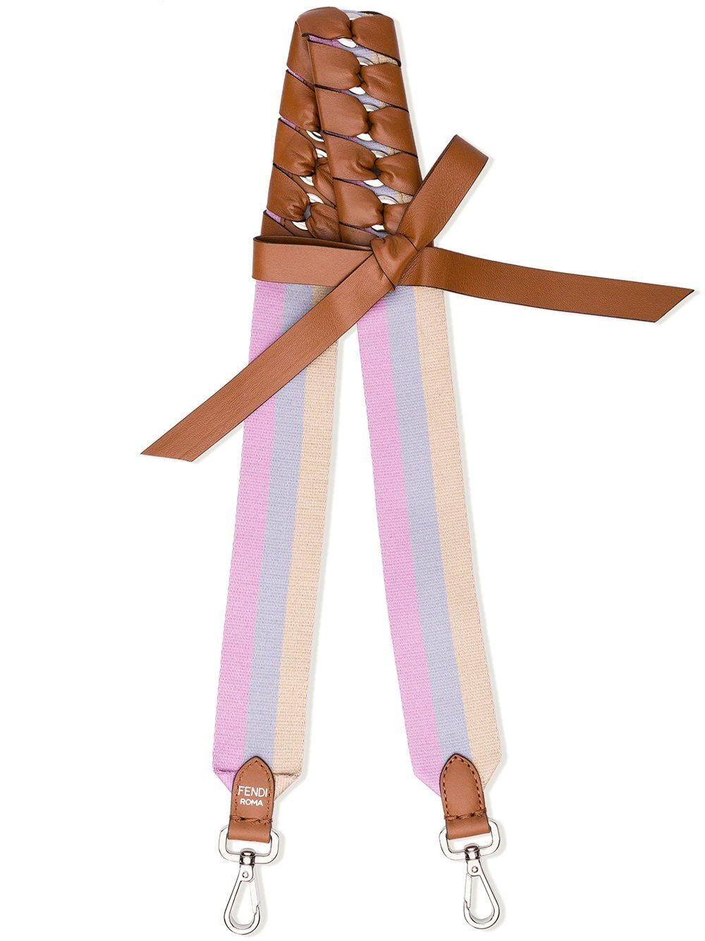 Fendi Multicoloured Strap You leather and fabric shoulder strap ... 168f537866e26
