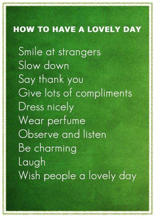 Smile, Give, Observe