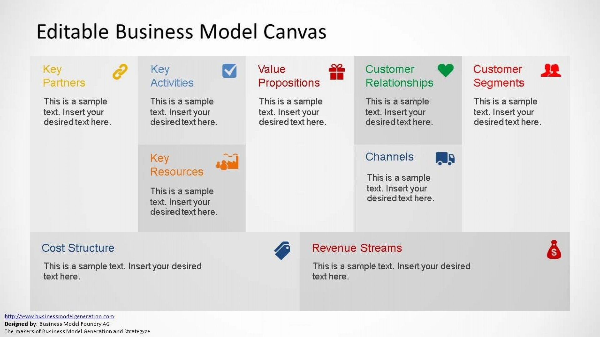The Exciting Awful Business Model Canvas Powerpoint Template Download Regarding Canva Business Model Canvas Business Model Template Powerpoint Design Templates Free business model canvas template
