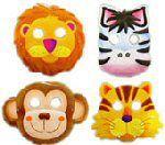 Jungle Safari Party Masks - Pack of 8
