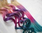 Tissue paper hair dye