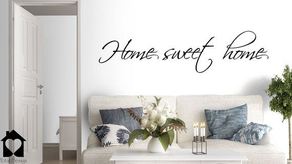 Home Sweet Home   Stylish Decal   Home Entrance   Home Decoration   Door  Decoration   · Vinyl Wall ...