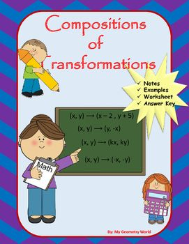 Geometry Worksheet Composition Of Transformations Geometry Worksheets Writing Equations Algebra 1