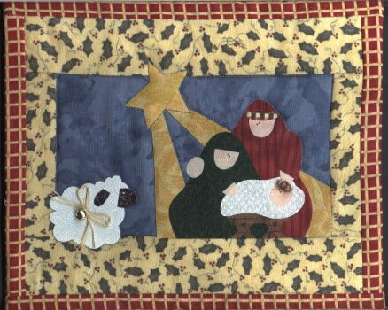 FREE NATIVITY APPLIQUE PATTERNS | APPLIQ PATTERNS | sewing ... : nativity quilts - Adamdwight.com