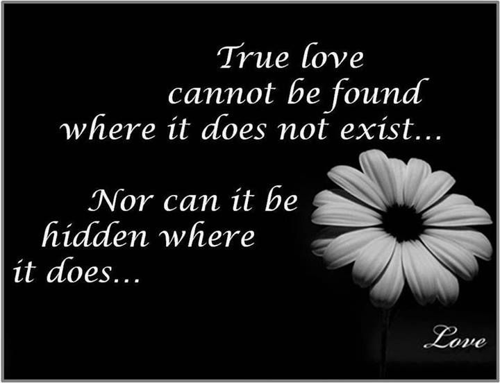 True Love Cannot Be Found Where It Does Not Existnor Can It Be