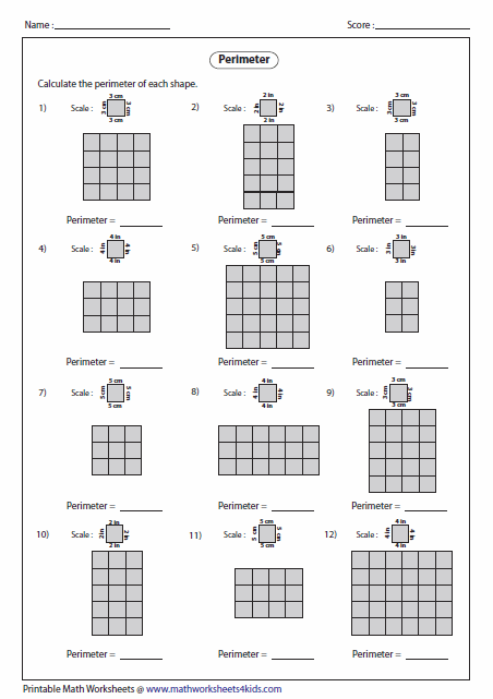 Perimeter Worksheets Perimeter Worksheets Area And Perimeter Worksheets Area And Perimeter