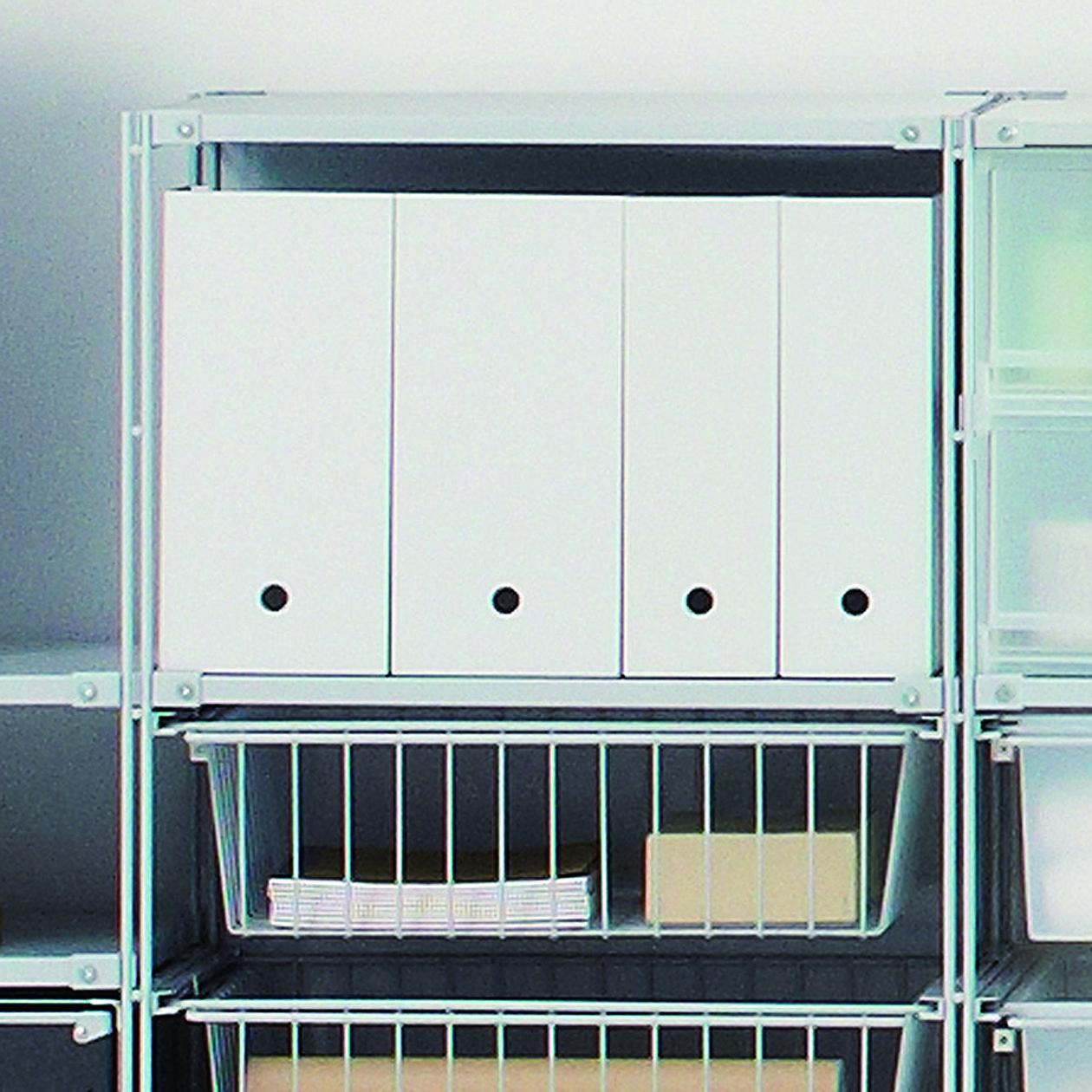 ポリプロピレンファイルボックス・スタンダードタイプ・A4用・ホワイトグレー 約幅10×