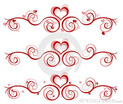 valentine banner 3 designs by dianne_61 via dreamstime - Valentines Designs