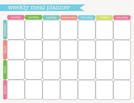 Weekly Meal Planner Printable | Organization Printables