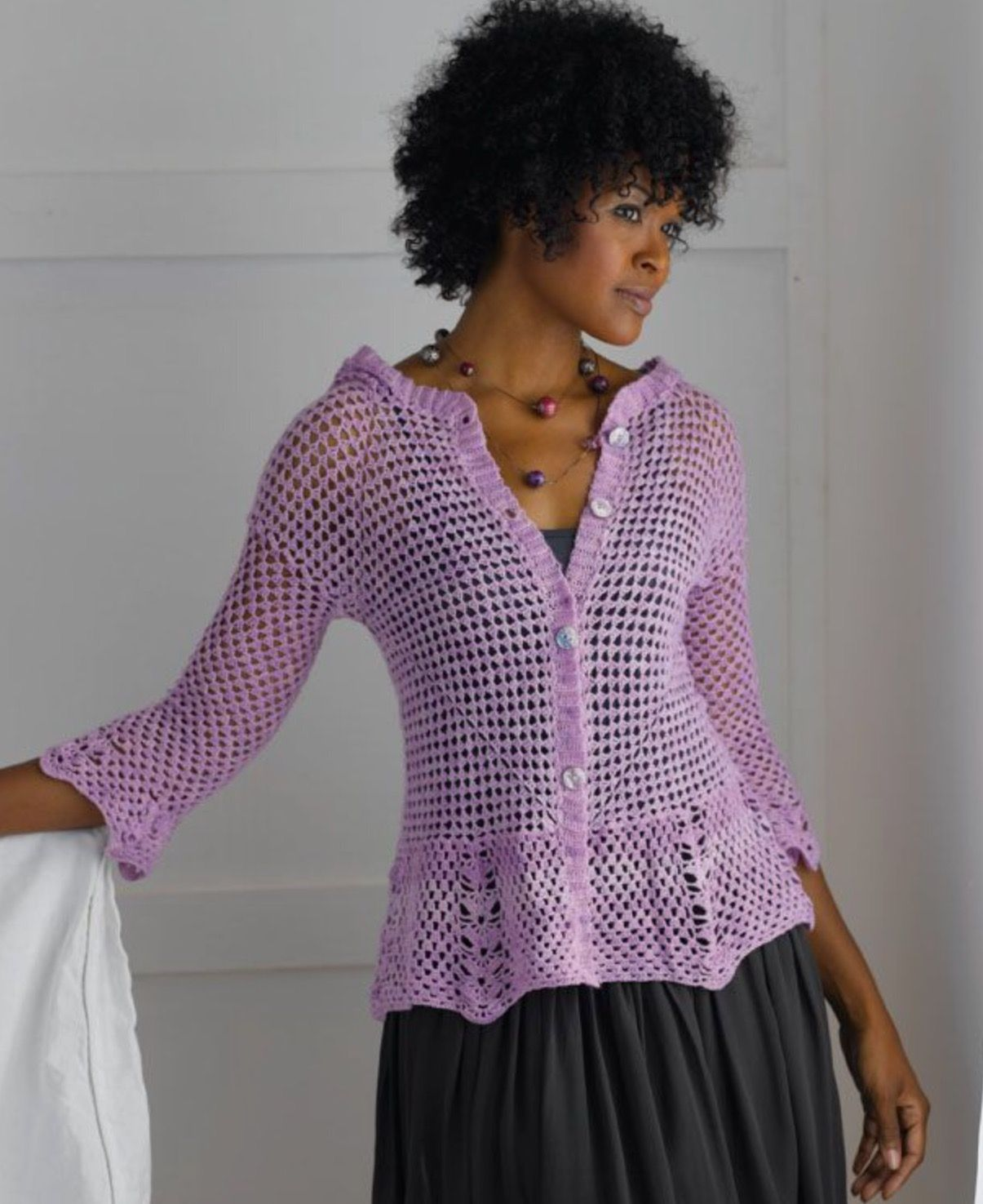 Enigma Hooded Cardigan. Crochet cardi. Crochet So Fine. Kristen ...