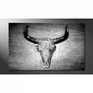 'Black and White Head' Graphic Art Print Multi-Piece Image on Canvas World Menagerie Size: 80cm H x 100cm W, Format: