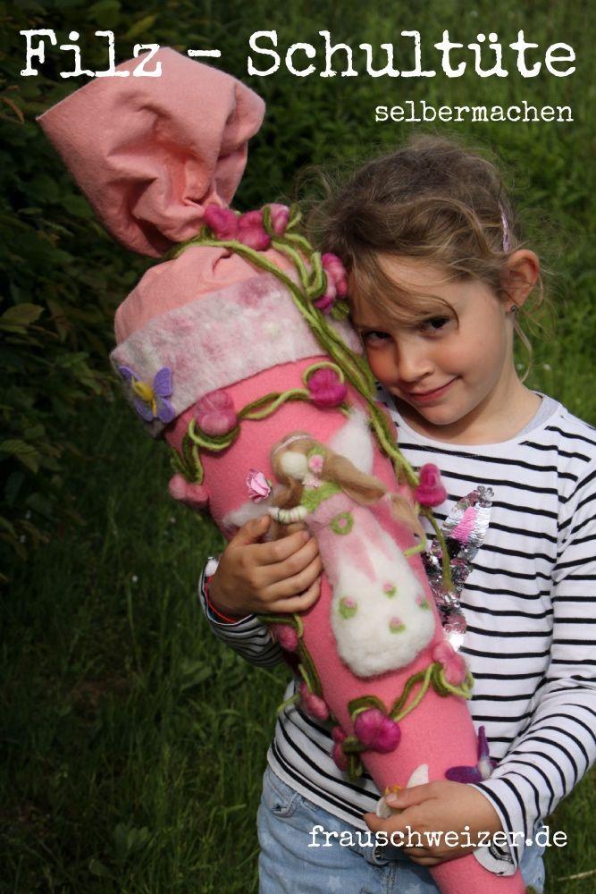bastel für dein kind eine wunderbare filz schultüte