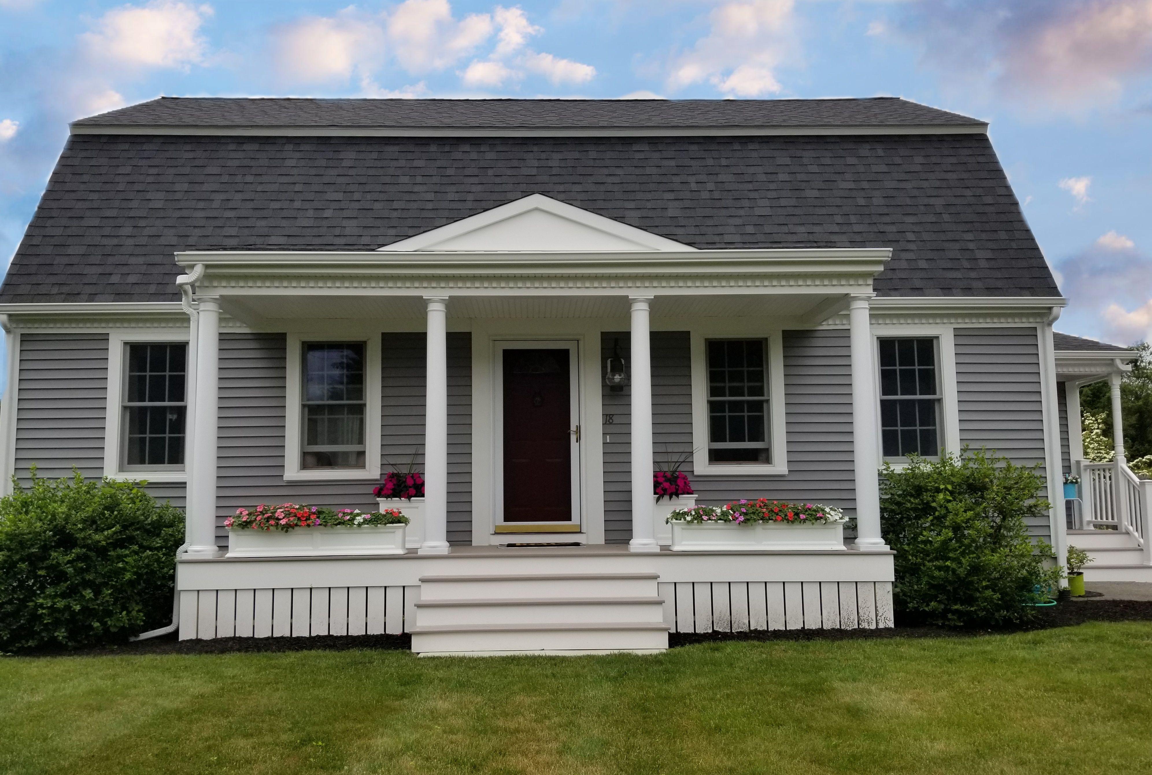 Vinyl Siding And Farmer S Porch Add Curb Appeal To Fairhaven Ma Home Contractor Cape Cod Ma Ri Farmers Porch Vinyl Siding Architectural Shingles